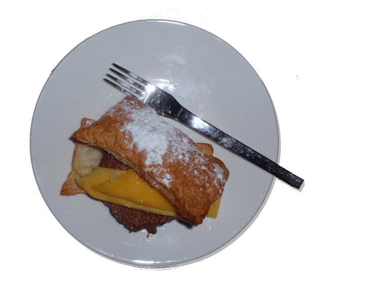 Tompouce met chocolademousse en mango recept