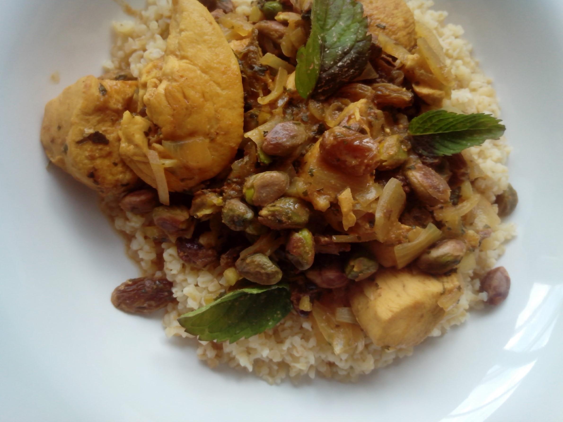 Recept pistachenoten met kip munt en bulgur of couscous