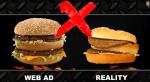 Waarom ziet je hamburger er niet uit zoals op het plaatje