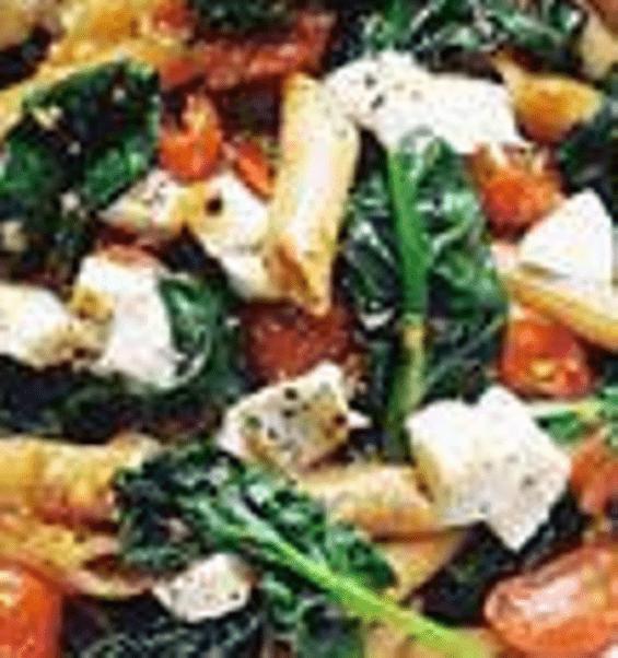 Pasta spinazie recept – Vegetarische pasta met verse spinazie,tomaatjes en mozzarella