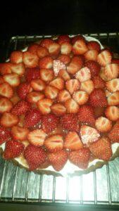 Mascarponetaart met aardbeien recept
