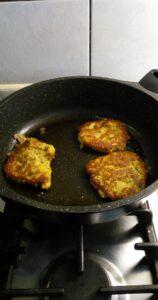 Groenteburgers in de pan