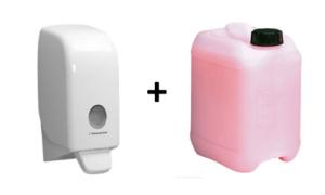Zeepdispenser en zeep