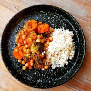 Vegan curry recept uit de slowcooker (4 porties)