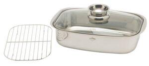 Küchenprofi braadslede met glasdeksel 6 liter rvs