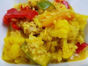 Slowcooker recept kip zoete curry