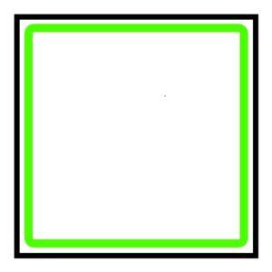 Vierkante voorraadbus in vierkant kastje
