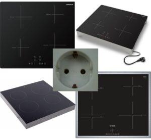 Inductiekookplaten en stopcontact