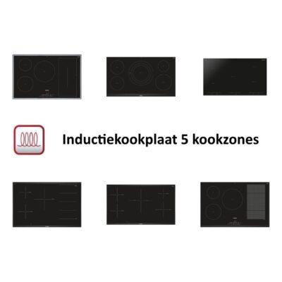 Inductiekookplaat 5 kookzones – Modellen vergeleken