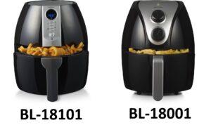 Blokker hetelucht friteuse bl-18101 en bl-18001