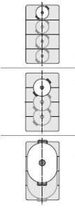 Inductie kookplaat met flex zone - Hoe kan je de pannen plaatsen
