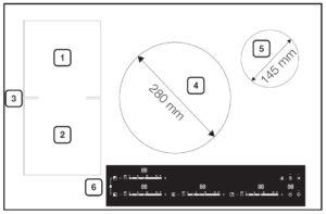 Samsung NZ84F7NC6AB/EF inductiekookplaat kookzone layout