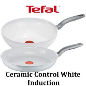 Tefal pannen Ceramic Control White Induction - Overzicht