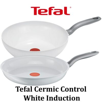 Tefal pannen Ceramic Control White Induction – Overzicht