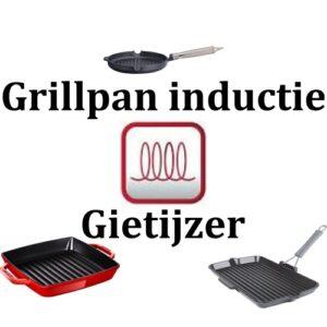 Grillpan inductie gietijzer