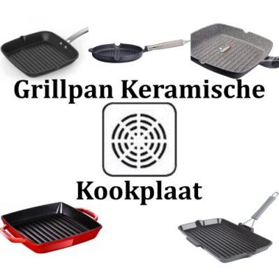 Grillpan Keramische kookplaat