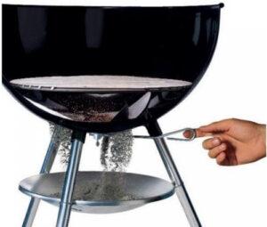 Hoe een houtskoolbarbecue werkt